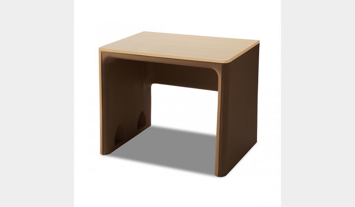 Attenda Desk Pine Cone with Asian Sand Laminate Top